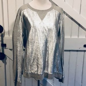 Mossimo Gray and Silver Sweatshirt Sz XL